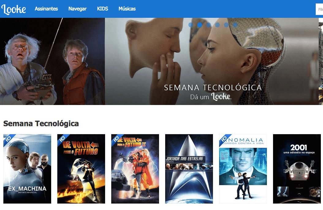 Looke, o serviço de streaming, é do Brasil.