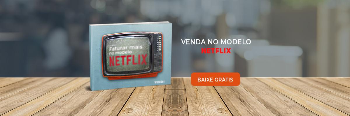Imagem do e-book como faturar no modelo Netflix e botão para download