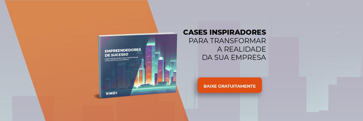 Imagem do e-book empreendedores de sucesso e botão para download do material