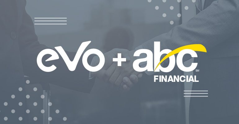 Logo das empresas EVO W12 e ABC Financial
