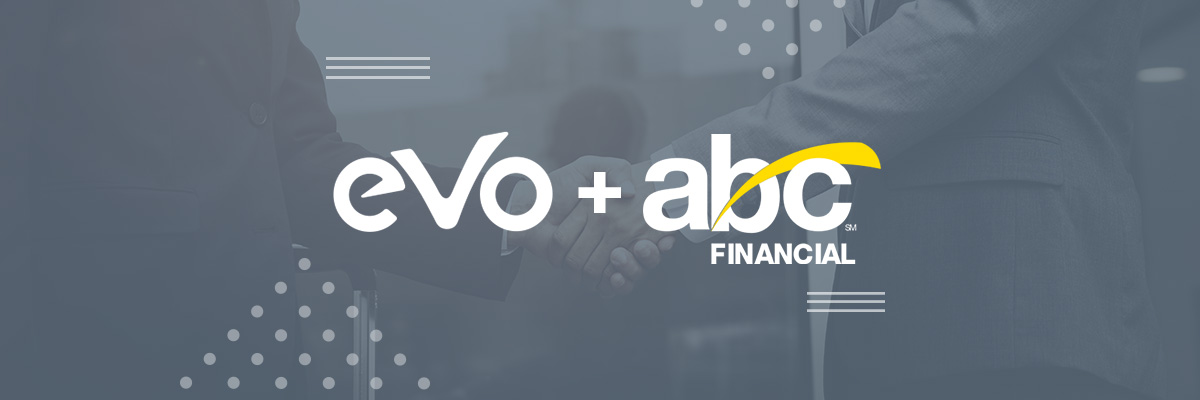 Logo das empresas EVO W12 e ABC Financial