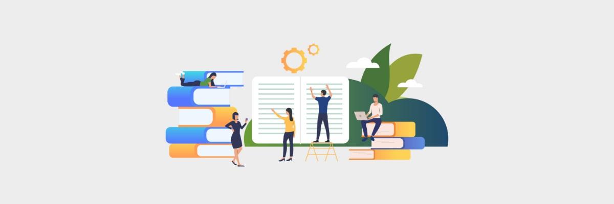 livros e símbolos que representam instituições de ensino