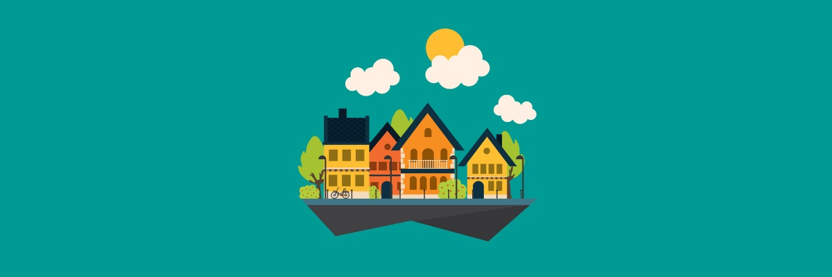 Casas que compõe um condomínio