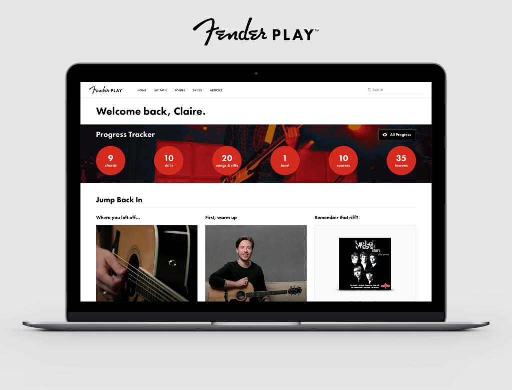 Anúncio Fender Play App Recorrência