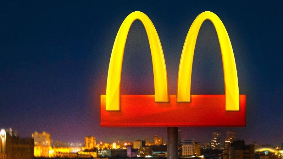 ação de branding com logo do mc donalds