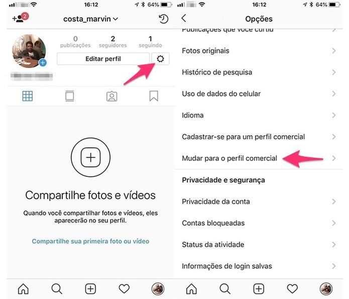 foto mostrando como fazer um perfil comercial para vender no instagram