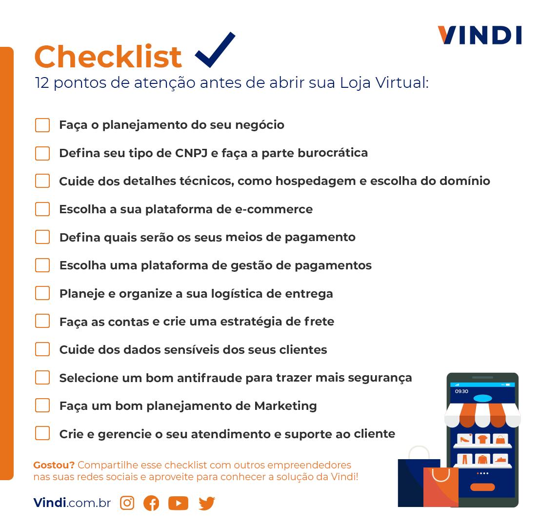 checklits- 12 pontos de atenção antes de abrir sua loja virtual
